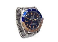 Lot 809-GENTLEMAN'S ROLEX  GMT MASTER PEPSI WATCH