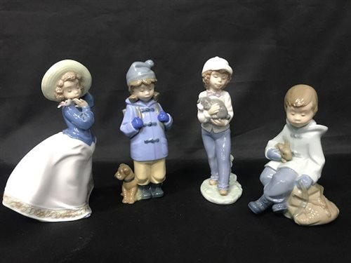 Lot 36-A COLLECTION OF NAO AND LLADRO FIGURES