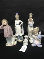 Lot 34-A COLLECTION OF LLADRO AND NAO FIGURES