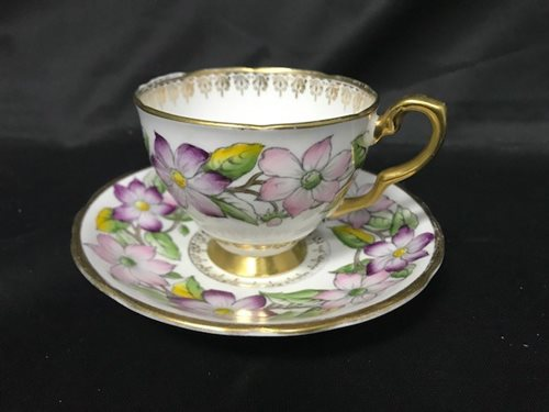 Lot 28-A ROYAL STAFFORD 'CLEMATIS' TEA SERVICE