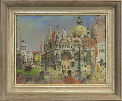 Lot 449-ST MARKS, FROM THE PIAZZETTA, BY ANTHONY ARMSTRONG