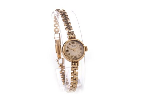 Lot 768-A LADY'S ROTARY NINE CARAT GOLD MANUAL WIND WRIST WATCH