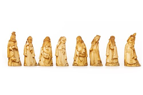 Lot 973-A SET OF CHINESE IVORY FIGURES