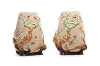 Lot 1267 - A PAIR OF CLARICE CLIFF FOR NEWPORT VASES