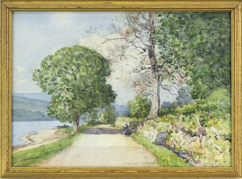 Lot 434-A PAIR OF WATERCOLOURS BY GEORGE HOUSTON