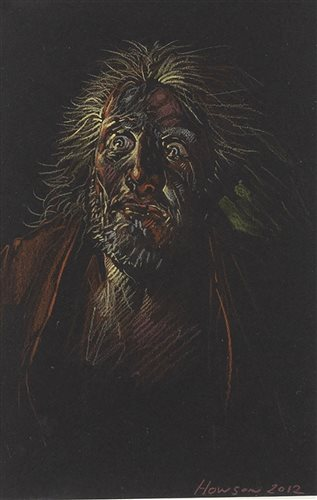 Lot 3-A PORTRAIT IN PASTEL, BY PETER HOWSON