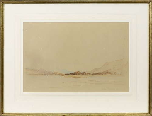Lot 456-LOCH DUICH, AN ORIGINAL WATERCOLOUR BY SIR DAVID YOUNG CAMERON