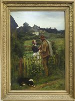 Lot 427-THE SHEPHERD'S COURTSHIP, AT ANCRUM, BY CHARLES MARTIN HARDIE