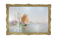 Lot 429-A DAY IN OCTOBER, VENICE, BY SIR DAVID MURRAY