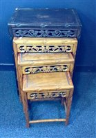 Lot 1029-A CHINESE NEST OF TABLES