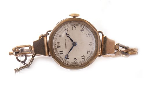 Lot 754-TWO LADY'S GOLD WRIST WATCHES