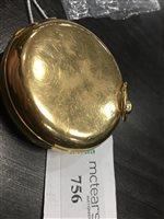 Lot 756-A VICTORIAN EIGHTEEN CARAT GOLD POCKET WATCH