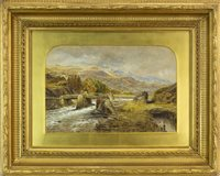 Lot 464-HIGHLAND SCENE WITH BRIDGE, BY WALLER HUGH PATON