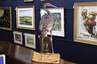 Lot 8-HERON SCULPTURE BY SUSAN WHITE-OAKES
