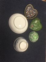 Lot 949-A GROUP OF CHINESE CERAMICS AND CLOISONNÉ WARE