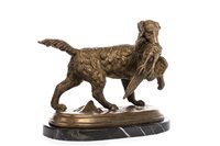 Lot 972-FRENCH POINTER WITH A PHEASANT IN HIS MOUTH BY CHRISTOPHE FRATIN