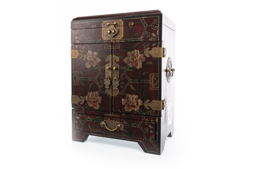 Lot 980-A CHINESE LACQUERED TABLE CABINET