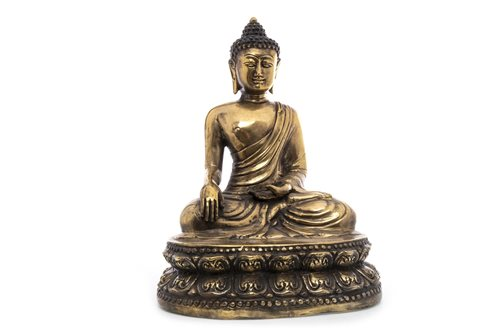 Lot 983-A CHINESE BRASS BUDDHA