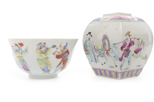 Lot 991-A CHINESE BOWL AND JAR