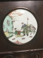 Lot 994-A CHINESE FAMILLE VERTE PLAQUE