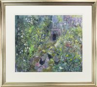 Image for HENS IN A GARDEN, BY RUTH WALKER