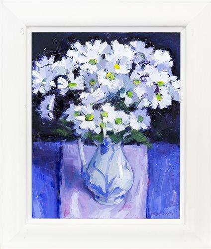 Lot 27-WHITE FLOWERS, BY JENNIFER MACKENZIE