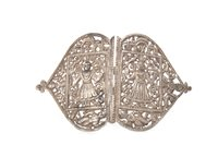 Lot 1053-AN INDIAN SILVER BUCKLE