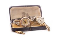 Lot 789-TWO LADY'S GOLD WRIST WATCHES