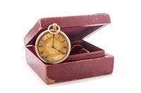 Lot 790-LADY'S CONTINENTAL GOLD FOB WATCH