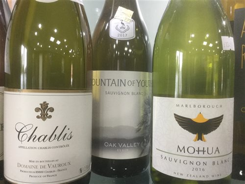 Lot 1 - A SELECTION OF CHABLIS, PINOT GRIGIO AND OTHER WHITE WINE - TWELVE BOTTLES