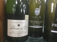 Lot 10-A SELECTION OF CHAMPAGNE AND PROSECCO - TWELVE BOTTLES