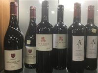 Lot 13-A SELECTION OF BEAUJOLAIS AND OTHER RED WINE - TWELVE BOTTLES