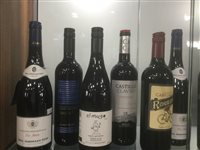 Lot 18-A SECTION OF RED WINE - TWELVE BOTTLES