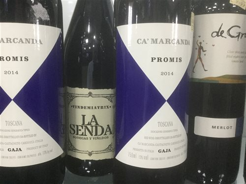 Lot 19-A SELECTION OF MERLOT, PROMIS 2014 AND OTHER RED WINE - TWELVE BOTTLES