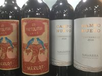 Lot 21-A SELECTION OF MERLOT, TEMPRANILLO AND OTHER RED WINE - TWELVE BOTTLES