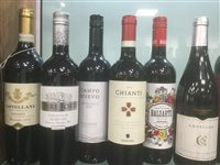 Lot 26-A SELECTION OF CHIANTI, TEMPRANILLO AND OTHER RED WINE - TWELVE BOTTLES