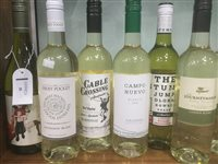 Lot 28-A SELECTION OF SAUVIGNON BLANC, NAVARRA AND OTHER WHITE WINE - TWELVE BOTTLES