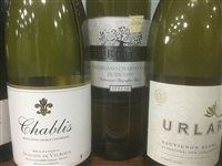 Lot 32-A SELECTION OF CHABLIS AND OTHER WHITE WINE - TWELVE BOTTLES