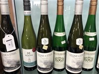 Lot 42-A SELECTION OF RIESLING AND OTHER WHITE WINE - TWELVE BOTTLES