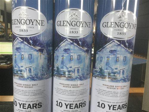 Lot 46-A LOT OF GLENGOYNE SCOTCH MALT WHISKY - THREE BOTTLES