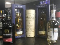 Lot 50-A SELECTION OF MALT AND BLENDED WHISKY - FIVE BOTTLES