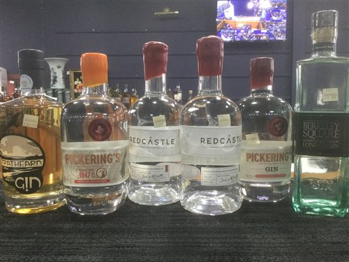 Lot 56-A SELECTION OF GIN - SIX BOTTLES