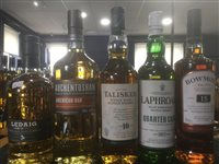 Lot 63-A SELECTION OF SCOTCH MALT WHISKY - FIVE BOTTLES