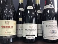 Lot 68-A SELECTION OF CHATEAUNEUF-DU-PAPE AND OTHER RED WINE - TWELVE BOTTLES