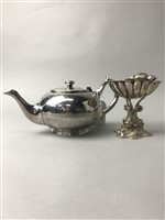 Lot 26-A GROUP OF SILVER PLATED OBJECTS