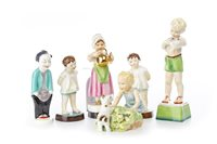 Lot 1306 - A LOT OF SIX ROYAL WORCESTER FIGURES