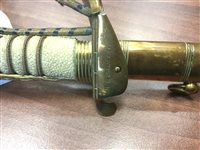 Lot 1656 - A GEORGE VI NAVAL DRESS SWORD WITH COVER