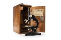 Lot 1469 - A MICROSCOPE BY ERNST LEITZ