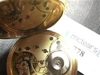 Lot 778-AN EIGHTEEN CARAT GOLD OMEGA POCKET WATCH