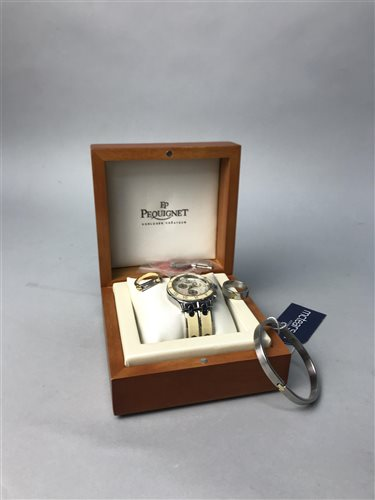 Lot 3-A LADY'S EP PEQUIGNET WATCH AND JEWELLERY